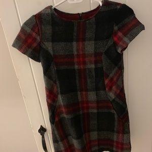 Zara Girls Soft collection plaid soft dress